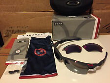 NEW Oakley Team USA Fast Jacket Dark Grey / Black Iridium +Red Iridium OO9156-14