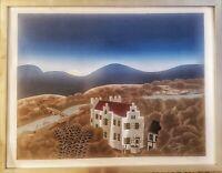 Thomas McKnight Schloss Remseck Large Silkscreen Signed Rare #1 from the edition