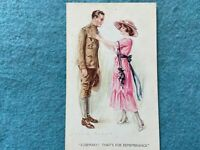 Rosemary, That's for Remembrance Vintage Army Postcard