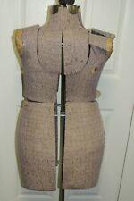 New Listingvintage Adjustable Full Size Dress Form Mannequin Rare Plus Model Metal Base
