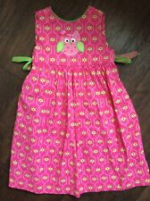 3d7c4800cbf Just Ducky Boutique Girls OWL appliqué Dress Size 5 Pink Green Ribbons  Holiday