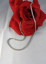 """Sterling Silver Italy Wheat Chain 15.76g 18.5"""" Necklace Cat Rescue"""