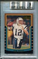 2000 Bowman Football #236 Tom Brady Rookie Card RC Graded BGS MINT 9 w 9.5s