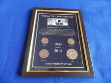 More details for ve day 70th anniversary 1945 - 2015 coins in a frame (all coins date from wwii)
