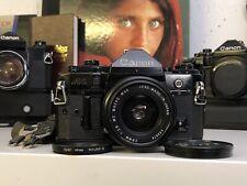 Canon A-1 A 1 Profi 35mm SLR Kit Analoge Lens Exakta Macro MC 28mm 1:2.8 F 2 8