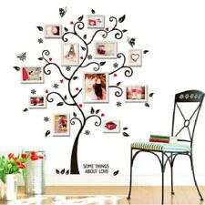 Removable Family Tree Wall Decor Sticker Large Vinyl Photo Picture Frame Black