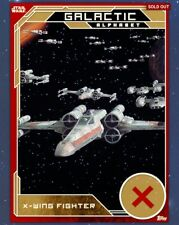 Star Wars Card Trader Galactic Alphabet Gold X-Wing Fighter Topps digital card
