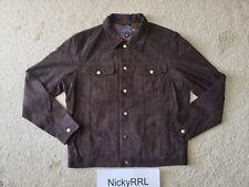 Polo Ralph Lauren Slim lambskin Leather Trucker Type 3 Jacket size L $898 RRL