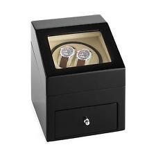 Remontoir Coffret Présentoir Watchwinder 2 Montres Automatiques 4 niveaux Tiroir