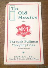 To Mexico via Missouri Kansas & Texas Railway MKT Pullman Sleeping Cars Brochure