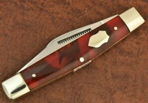 BULLDOG BRAND SOLINGEN GERMANY CELLULOID 3 BLADE STOCKMAN KNIFE 2004 NICE (8489)