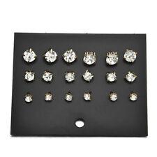 Rhinestone Crystal Jewelry Ear Stud Earrings 9 Pairs Fashion Men Elegant Women