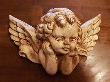 1 Architectural décoré plâtre angelot cherubin aile Face Wall Decor plaque Handmade