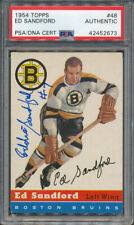 1954/55 Topps #48 Ed Sandford PSA/DNA Certified Authentic Signed *2673
