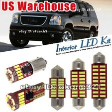 11-pc Pure White LED Lights Interior Package Map bulb Kit Fit 07-14 GMC Yukon
