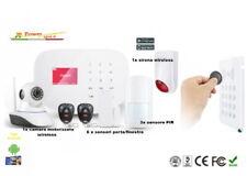 Sistema d allarme wireless GSM WIFI GPRS CAM videosorveglianza antifurto RFID 3g