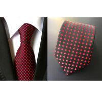 Sale New Black Red Spot Dot  Men's  Silk Tie UK Seller Business Christmas Gift