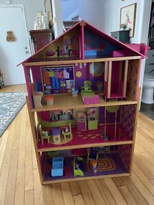 Barbie Dream House Size Dollhouse Furniture Girls Playhouse Includes Wooden furn