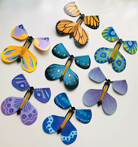 Magic Flying Wind Up Butterfly For Birthday or Wedding Greeting Card