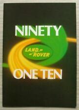 LAND ROVER 90 & 110 4x4 Sales Brochure c1985 #LR335VP