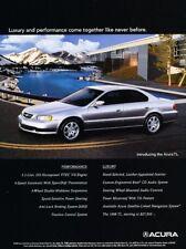 1998 1999 Acura TL Original Advertisement Print Art Car Ad D112