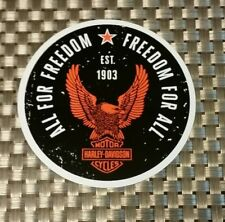 """HARLEY DAVIDSON STICKER DECAL 3.5""""oval RACING FREE SHIPPING drags hogs"""