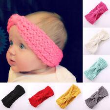 Cute Baby Girl Newborn Headband Bowknot Crochet Soft Hair Band Headpiece#ty