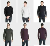 883 Police Mens Winter Chunky Cable Knit Jumper Sweater Top Smart Casual Lay