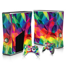 Xbox 360 Slim Console Skin Decal Sticker Abstract + 2 Controller Custom Set