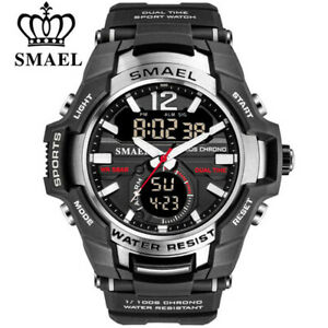 SMAEL Men Digital Quartz Watch Big Case Fashion Sport LED Electronic Wristwatch