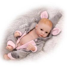 Mini 11'' Full Silicone Reborn Baby Doll Real Looking Girl Gift Lifelike Dolls