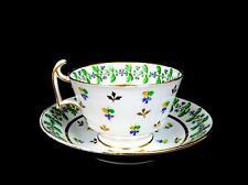 """SPODE PORCELAIN #1395 ENGLAND ANTIQUE LONDON SHAPE 2 3/8"""" CUP & SAUCER 1790-1820"""