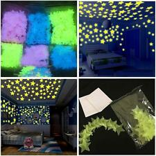 200 pcs Star Wall Stickers 3D DIY pentagram Glowing Home Wall Art Decorative