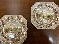 Pair of Johnson Bros Historic America the Capitol Washington Plates (Hospiscare)