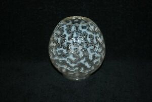 BEAUTIFUL VICTORIAN HOBBS WHITE OPALESCENT CORAL REEF ROSE BOWL 1890'S
