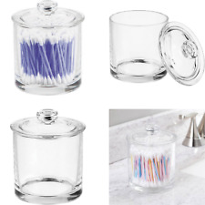 Durable Small Glass Bathroom Canister Jar With Removable Lid And Clear Design
