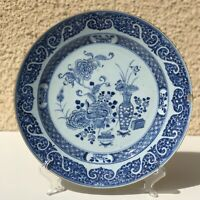 Very Large Plate Porcelain 18th China Qing Dynasty