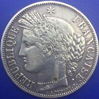 Monnaie Argent, 5 Francs CERES 1849 A Paris #.1406