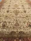 High Quality Handmade Palace Size Oriental Rug,Neutral Colors,Natural Dyes 12x18