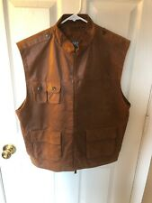 Wilson brown Leather vest!