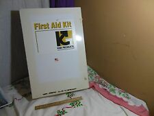 VINTAGE LARGE METAL FIRST AID KIT MEDICINE CABINATE KAR PRODUCTS WALL MOUNT