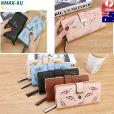 Long PULeather Travel Women Purse Wallet Card Phone Holders Clutch Handbag Box