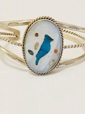 Inlay Cuff Bracelet Vintage Zuni Bird