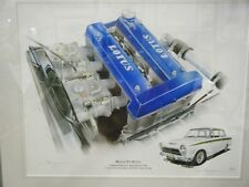 LOTUS FORD CORTINA TWIN CAM ENGINE AND CAR STUNNING LIMITED EDITION PRINT NEW