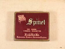 Vintage / Antique Spinet Cigarettes Tobacco Tin Rare