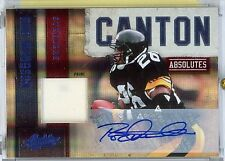 Rod Woodson Autograph Jersey Patch 2010 Panini Canton Absolutes HOF
