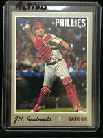 F9107 2019 Topps Heritage Action Variations #535 J.T. Realmuto