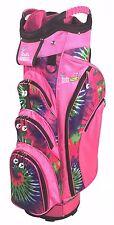Birdie Babe Pinkadelic Pink Tie Dye Womens 14-way Ladies Cart Golf Bag w Cooler