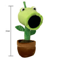 "Plants vs Monsters Pea Shooter Cannon Plush Toy 12"" Large"