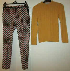 SIZE 6 LADIES BUNDLE TROUSERS RIVER ISLAND AND JUMPER PURE & NATURAL SIZE XS